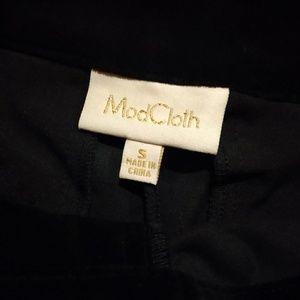 Modcloth Pants - ModCloth Black Velvet Flare Pants